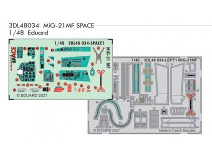 3DL48034 MiG 21MF SPACE 1 48 Eduard