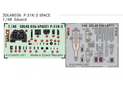3DL48036 P 51K 5 SPACE 1 48 Eduard