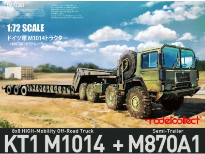 German MAN KAT1M1014 8x8 HIGH Mobility off road truck with M870A1 semi trailer