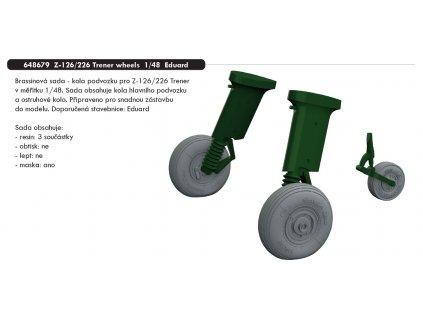 648679 Z 126 226 Trener wheels 1 48 Eduard