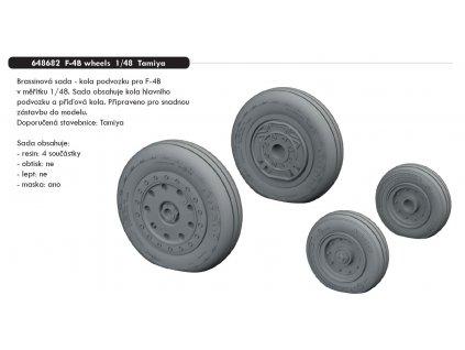 648682 F 4B wheels 1 48 Tamiya
