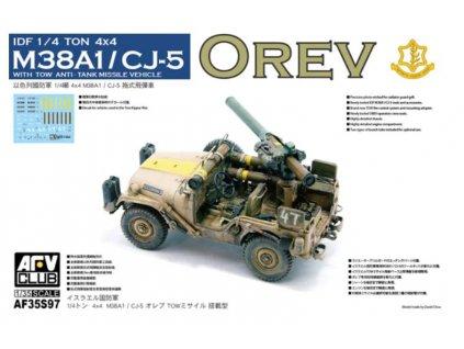 AF35S97 IDF 1 4 ton 4x4 anti tank missile vehicle M38A1 CJ5 Orev
