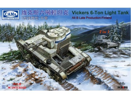 CV35A009 Vickers 6 ton Light Tank ALT B Late Production, Finland