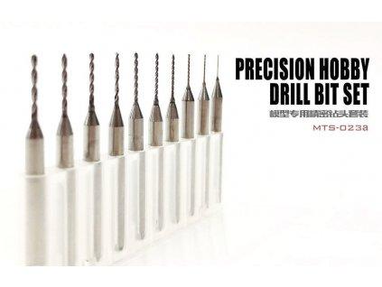 Precision Hobby Drill Bit Set (sada mini vrtáčků 0,4mm-1,3mm) - 10 ks