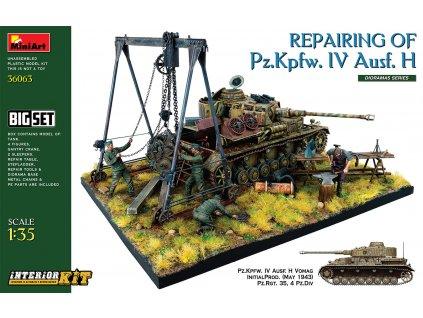 1/35 Repairing of Pz.Kpfw. IV Ausf. H. Big Set