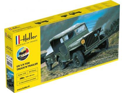 1/35 US 1/4 Ton Truck & Trailer - starter kit