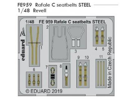 FE959 Rafale C seatbelts steel 1 48 Revell