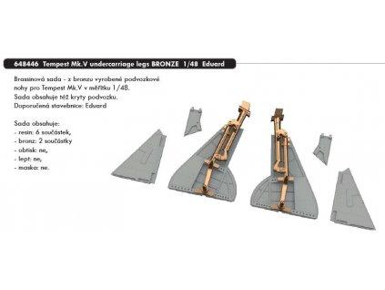 648446 Tempest Mk.V undercarriage legs bronze 1 48 Eduard