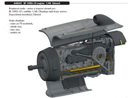 648441 Bf 109G 10 engine 1 48 Eduard