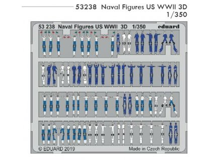 53238 Naval Figures US WWII 3D 1 350