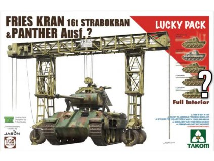 TAK2108 Fries Kran 16t Strabokran and Panther Ausf. D Late with zimme and full interior