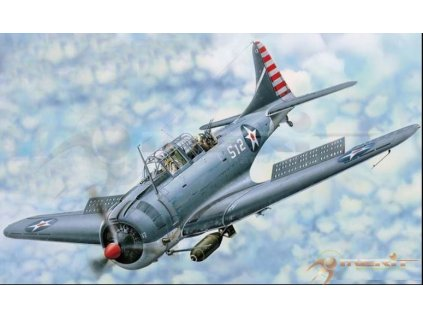MER61801 SBD 3 4 Dauntless Dive bomber, early late version