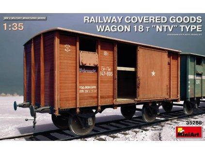 MINA35288 Railway Covered Goods Wagon 18T NTV Type