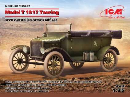 ICM 35667 Model T 1917 Touring, WWI Australian Army Staff Car