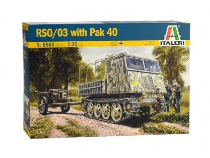 Model Kit military 6563 - RSO/03 with PAK 40 (1:35)