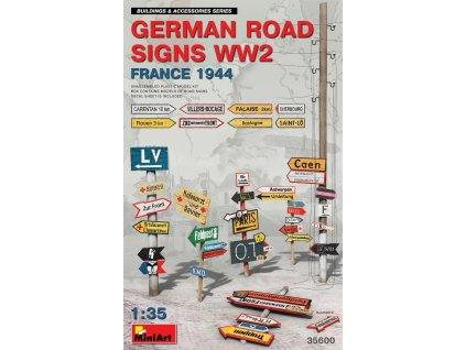 MINA35600 German Road Signs WW2 France 1944