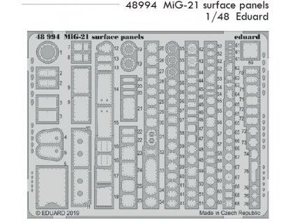 48994 MiG 21 surface panels Eduard