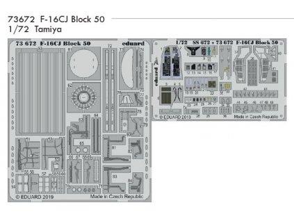 73672 F 16CJ Block 50 Tamiya