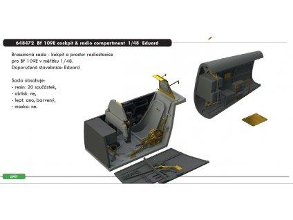 648472 Bf 109E cockpit & radio compartment 1 48 Eduard