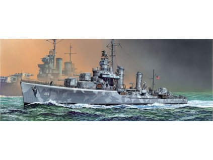Model Kit loď 1021 - U.S.S. BUCHANAN DDG-484 GLEAVES CLASS DESTROYER 1942 (SMART KIT) (1:350)