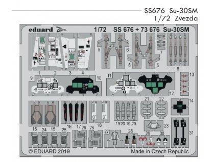 SS676 Su 30SM 1 72 Zvezda