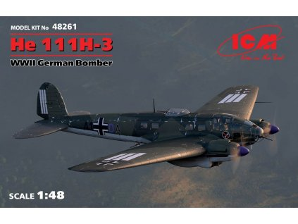 48261 He 111H 3 German Bomber