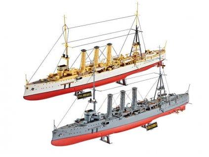 Plastic ModelKit loďs 05500 - Combi Set German WWII Cruisers SMS Dresden & SMS Emden (1:350)