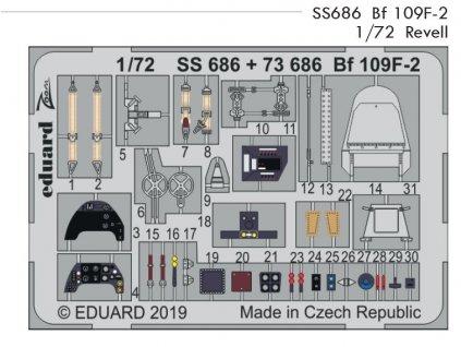 SS686 Bf 109F 2 1 72