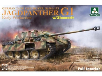 TAK2125 Jagdpanther G1 Early Production w zimmerit & full interior