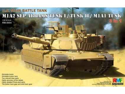 RM 5004 U.S. Main Battle Tank M1A2 SEP Abrams TUSK I TUSK II M1A1 TUSK TUSK II M1A1 TUSK