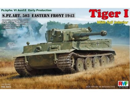RM 5003 Pz.kpfw.VI Ausf. E Early Production Tiger I S.PZ.ABT. 503 Eastern Front 1943 w full interior