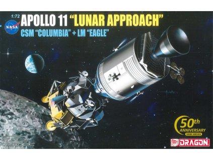 "Model Kit Apollo 11001 - APOLLO 11 ""LUNAR APPROACH"" CSM ""COLUBIA"" + LM ""EAGLE"" (1:72)"