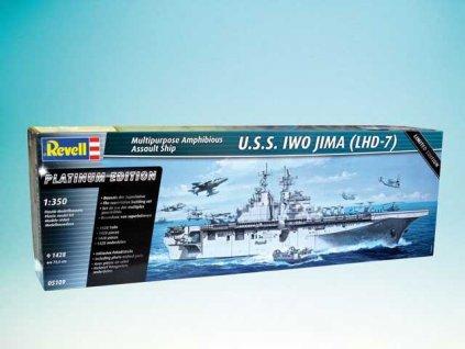 Plastic ModelKit loď 05109 - Amphibious Assault Ship U.S.S. IWO JIMA (LHD-7) (1:350)