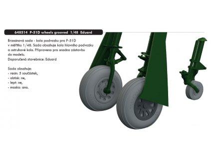 648514 P 51D wheels grooved 1 48 Eduard