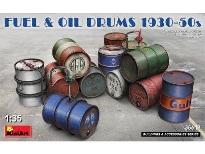 MINA35613 Fuel and Oil Drums 1930 1950