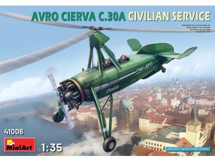 MINA41006 AVRO CIERVA C.30A Civilian Service Bata