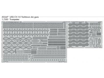 53247 USS CV 10 Yorktown AA guns 1 350 Trumpeter