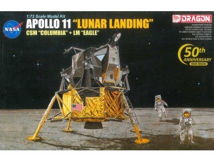 """Model Kit Apollo 11002 - APOLLO 11 """"LUNAR LANDING"""" CSM """"COLUMBIA"""" + LM """"EAGLE"""" (1:72)"""