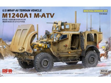 RM 5032 U.S MRAP All Terrain Vehicle M1240A1 M ATV with full interior