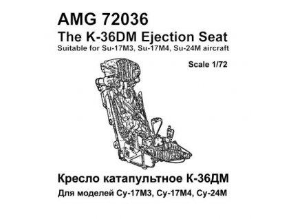 1/72 K-36DM ejection seat (2 pcs.)