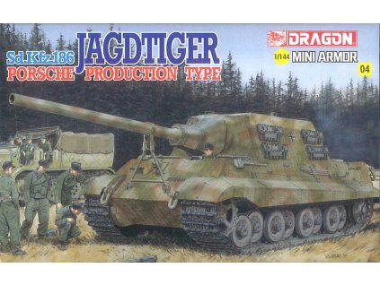 Model Kit tank 14106 - Jagdtiger Henschel (1:144)