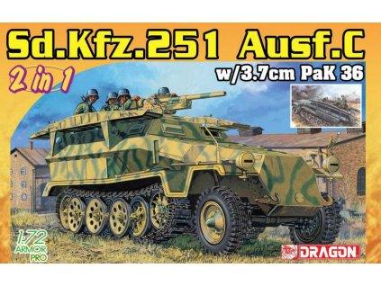 Model Kit military 7606 - Sd.Kfz.251/7 Ausf.C Pionierpanzerwagen (2 in 1) (1:72)