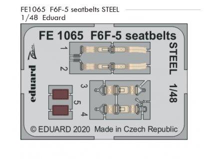 FE1065 F6F 5 seatbelts STEEL 1 48 Eduard