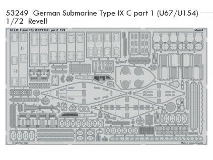 53249 German Submarine Type IX C part 1 (U67 U154) Revell 1 72