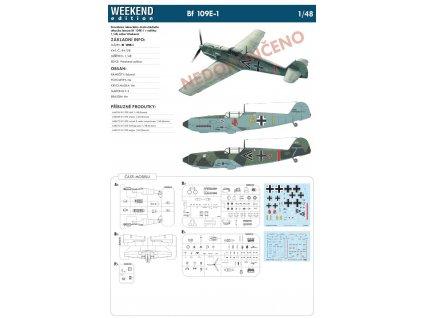 84158 Bf 109E 1 weekend