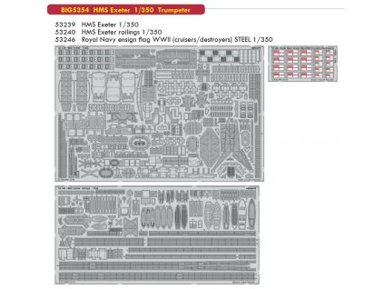 BIG5354 HMS Exeter 1 350 Trumpeter
