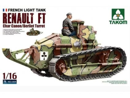 1003 French Light Tank Renault FT Char Canon Berliet Turret