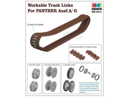 RM 5014 Workable Track Links for Panther Ausf. A G