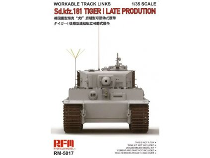 RM 5017 Sd.Kfz. 181 Tiger I Late Production Workable Track Links