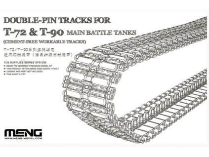SPS 030 Double Pin Tracks For T 72 & T 90 Main Battle Tanks (Cement Free Workable Tracks)
